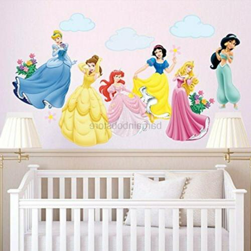 decalmile Princess Wall Stickers Murals Removable Vinyl Girl