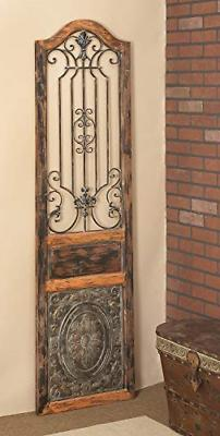 Deco 79 Rustic Arched Door-Inspired Wood and Metal Wall Deco