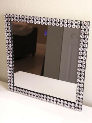 Silver And Frame Mirror