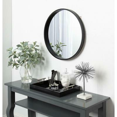 Kate And Laurel Travis Round Wood Accent Wall Mirror Vanity