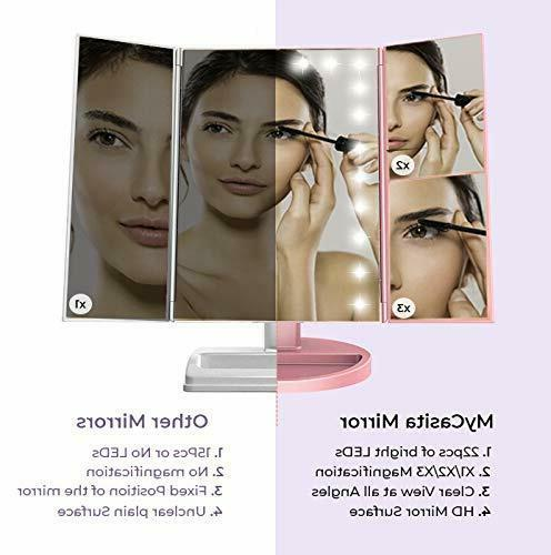 Vanity with lights LED Makeup Magnifying mirror with