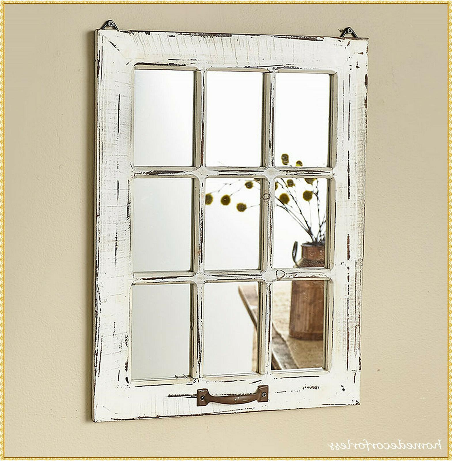 WHITE Wood Mirror Country Home