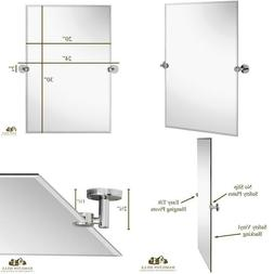 Hamilton Hills Large Pivot Rectangle Mirror With Polished Ch