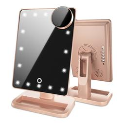Beautify Beauties Lighted Makeup Mirror With Bluetooth - Ros
