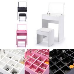 Makeup Desk Vanity Table Set Jewelry Storage with Dressing M