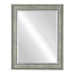 Kate and Laurel McKinley Framed Wall Vanity Beveled Mirror,