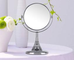Mini Travel Makeup Mirror Double Sided 5X Magnifying Metal C
