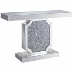 modern noralie console table in mirrored