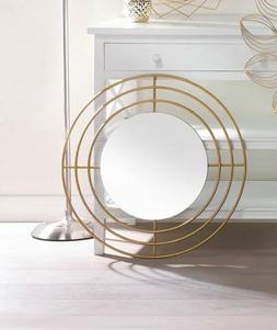 Modern Round Wall Mirror with Gold Iron Circle Frame