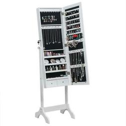 New Full Length Mirror Jewelry Cabinet Free Standing Armoire