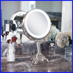 """Zadro 9"""" LED Variable Lighted Vanity Mirror with 10x / 1x"""