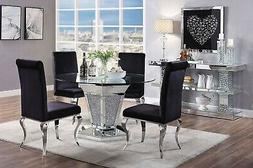 Acme Furniture Noralie Mirror Stainless Steel 5 Piece Glam D