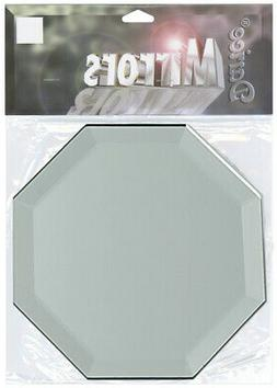 Darice Octagon Glass Mirror With Bevel Edge 5 Inches