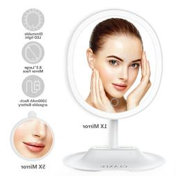 Portable Lighted Makeup Mirror with Lights LED 5x Magnifying