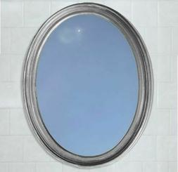 Oval Framed Bathroom Mirror - Perfect For Vanity Wall, Antiq
