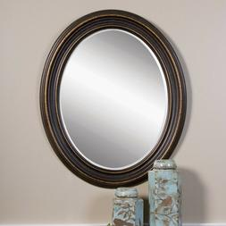 Uttermost 'Ovesca' Oval Mirror - Black