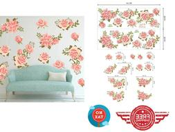 Pink Rose Flower Wall Decals Removable Wall Stickers Art DIY