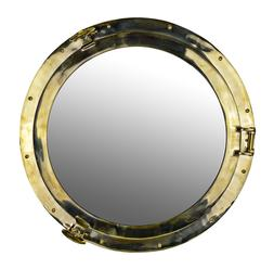 """Porthole Mirror 24"""" Solid Brass Wall Mount Nautical Themed"""