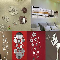 Removable Mirror Decal Art Mural Wall Stickers Home Decor DI