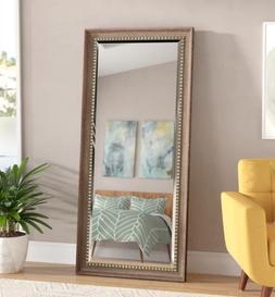 Rustic Floor Mirror Antique Gold Full Length Wall Hang Leane