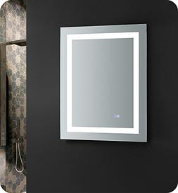 "Fresca Santo 24"" Wide x 30"" Tall Bathroom Mirror w/LED Light"