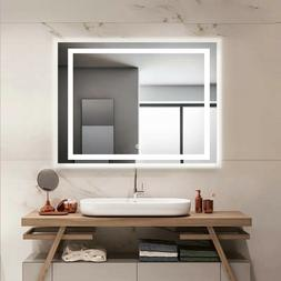 Smart Bathroom LED Mirror Backlit Illuminated squares Mirror