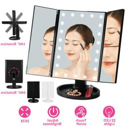Touch Screen Makeup Mirror Tabletop Cosmetic Vanity light up