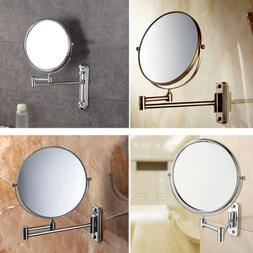 Two-Sided 10x Magnifying Wall Mount Swivel Make up Shaving M