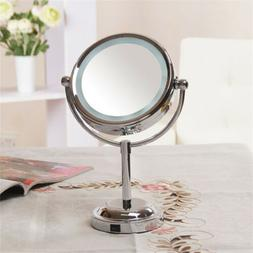 US Magnifying LED Lighted 3x Compact Cosmetic Makeup Dual Si