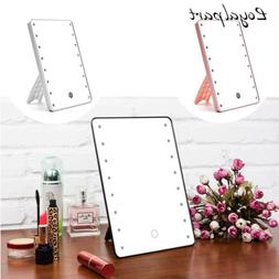 US Personal Touch Screen Makeup Mirror LED Light Kit Rotatab