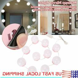 Vanity LED Makeup Mirror Lights10 Dimmable Bulb String Warm