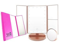 Vogue Fox Fashion Vanity Mirror with Lights Rose Gold - Perf