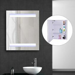 LED Wall Cabinet Mirror Wall Mounted Bathroom Medicine Cabin