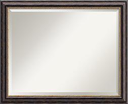 Wall Mirror Large, Tuscan Rustic Wood: Outer Size 32 x 26""