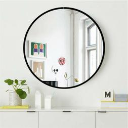 Wall Mirror Round Wall Mounted Bathroom Makeup Mirror Metal