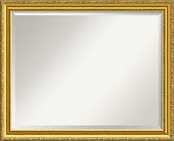 """Wall Mirror Large, El Dorado Gold Wood: Outer Size 32 x 26"""""""