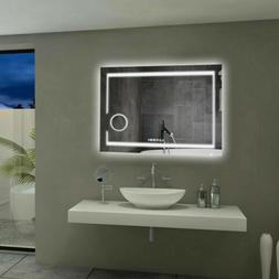 Wall Mounted Bathroom Mirror 3X Magnifying Backlit Dimmer LE