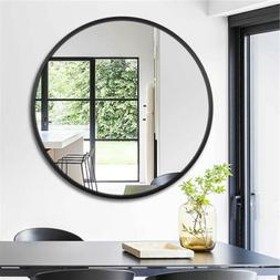 Wall Mounted Mirror Round Large Hanging Alloy Frame Dressing