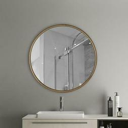 wall mounted round mirror nordic gold style